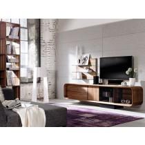 Meuble TV design en noyer ou chêne massif