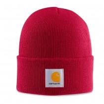 """Le bonnet rouge """"class"""" de chez Carhartt."""