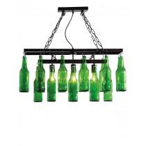 Le lustre en bouteilles de biere par Kare