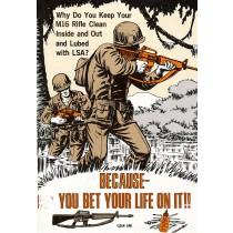 Une bande dessinée sur le M16 A1 de 1968.