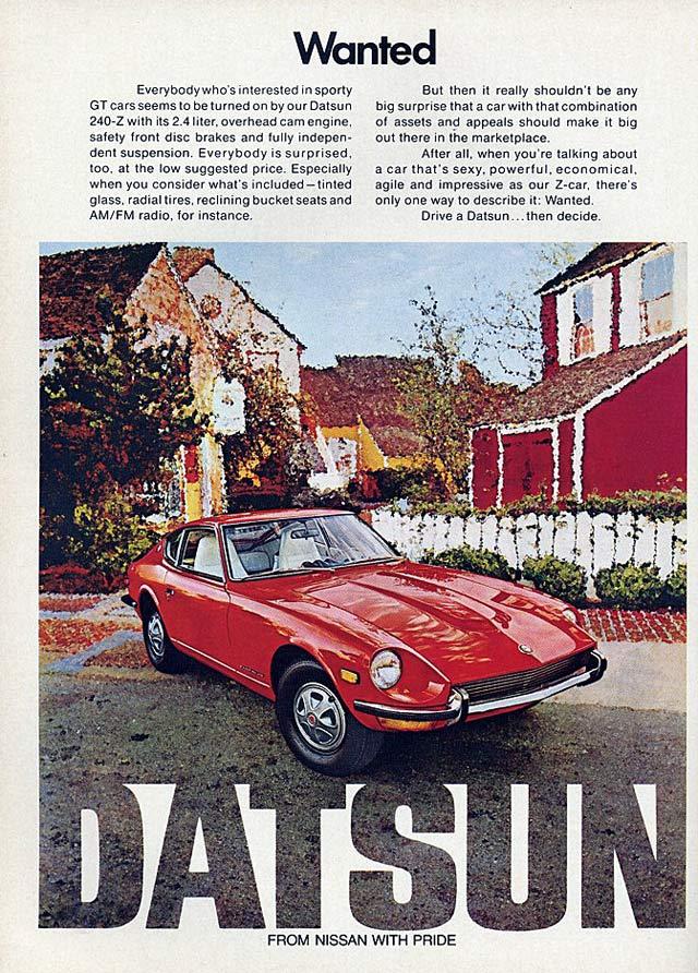 Datsun 240Z publicité