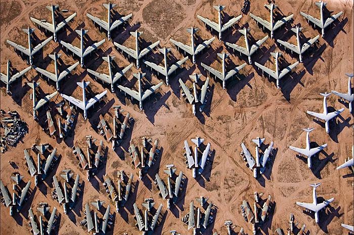 Davis Monthan Air Force Base The Boneyard cimetiere avions