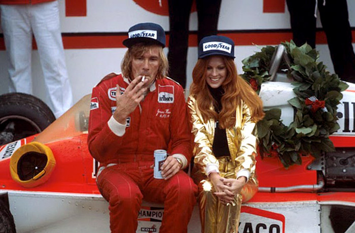 James Hunt smoking