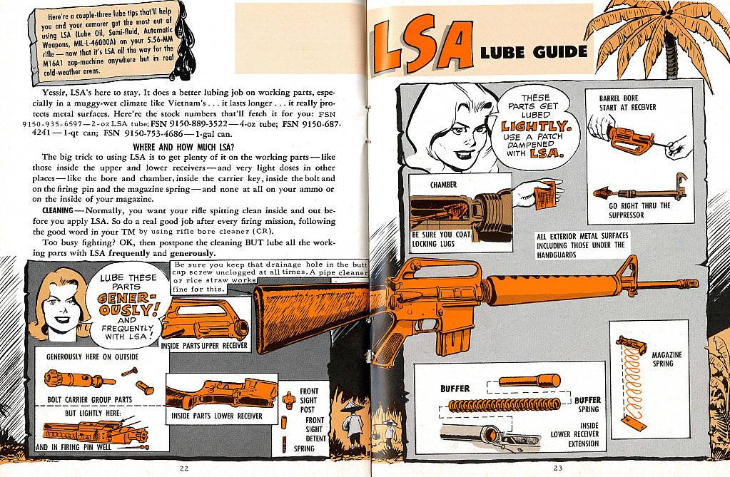 US-Army-bande dessinée-entretien-M-16-A1