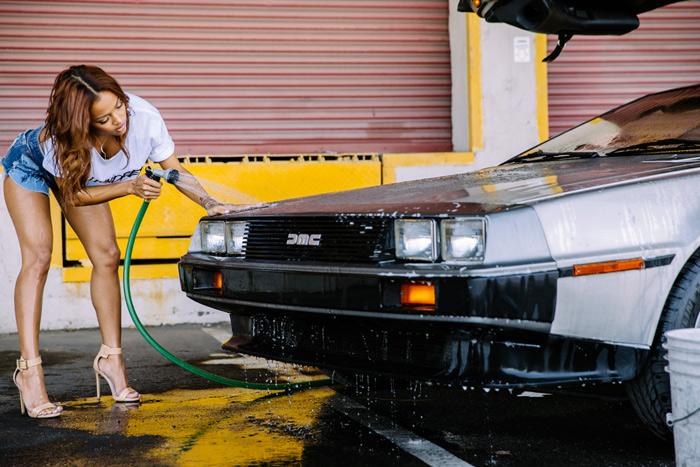 Karrueche-Tran-lave-DeLorean